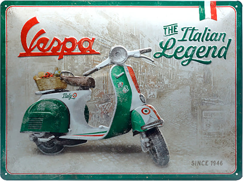 METAL TIN-SIGN VESPA